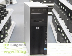 HP Workstation Z400 А клас Intel Xeon Dual Core W3503 2400Mhz 4MB 6144MB DDR3 ECC 1 бр. 500 GB 3.5 SATA DVD RW Tower  nVidia Quadro NVS 300 512MB PCI E DMS 59 Card Reader