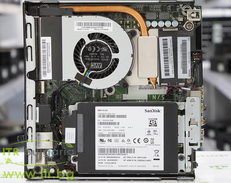Lenovo ThinkCentre M93p А клас Intel Core i7 4785T 2200MHz 8MB 8192MB So-Dimm DDR3L 256 GB 2.5 Inch SSD  Tiny Desktop