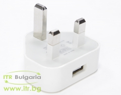 Apple USB Charger СТ 099А25 А клас  UK Plug 5V 1A 5W No Cable