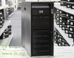 HP Workstation Z800 А клас Intel Xeon Quad Core X5570 2930MHz 8MB 16GB DDR3 Registered 2 бр. 500 GB 3.5 SATA DVD RW Tower  nVidia Quadro K600 1024MB PCI E DVI DisplayPort