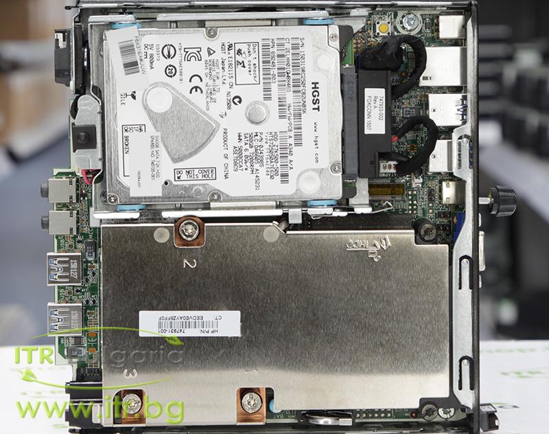 HP EliteDesk 800 G1 DM А клас Intel Core i5 4590T 2000MHz 6MB 4096MB So-Dimm DDR3L 128 GB 2.5 Inch SSD  Desktop Mini  Wi-Fi