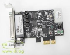 Fujitsu CP 140 А клас RS 232 PCIe Low Profile  1xDB44 Female