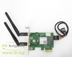HP Intel Dual Band Wireless AC 7265 А клас Wireless 802.11b g n PCIe with antenna for PC Low Profile 801771 001