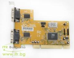 VScom uPCI 200L А клас RS 232 PCI Standard Profile  2xDB9 Male for PC