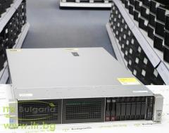 HP ProLiant DL380 Gen9 Rack Mount 2U А клас 2x Intel Xeon 6 Core E5 2643 v3 3400MHz 20MB  128GB DDR4 Registered 2 бр. 300 GB 15000 rpm SAS 2.5  NO OD   LAN 4x 10 100 1000 PSU 2x 500W Smart Array P440ar 2GB Controller with BBWC