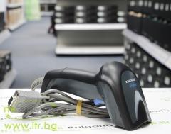 Datalogic Gryphon GD4400 Black А клас RS 232 DB9 Powered 5V Female Single Line Laser Жичен Barcode Scanner