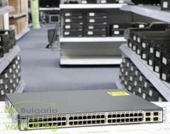 Cisco Catalyst 3750 А клас WS C3750 48PS S 48 port 10 100 PoE + 4xSFP Managed Switch