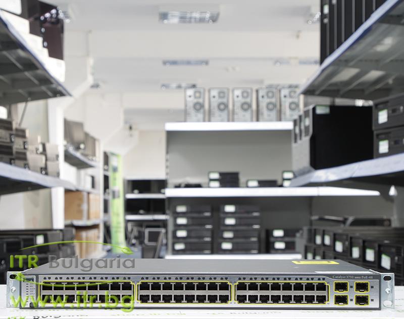 Cisco Catalyst 3750 А клас WS-C3750-48PS-S 48-port 10/100 PoE + 4xSFP Managed Switch