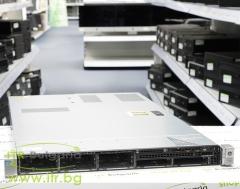 HP ProLiant DL360p Gen8 Rack Mount 1U А клас 2x Intel Xeon 8 Core E5 2650 2000MHz 20MB  64GB DDR3 Registered NO HDD   SAS 2.5  NO OD   LAN 4x 10 100 1000 PSU 2x 460W Smart Array P420i 2GB Controller with FBWC
