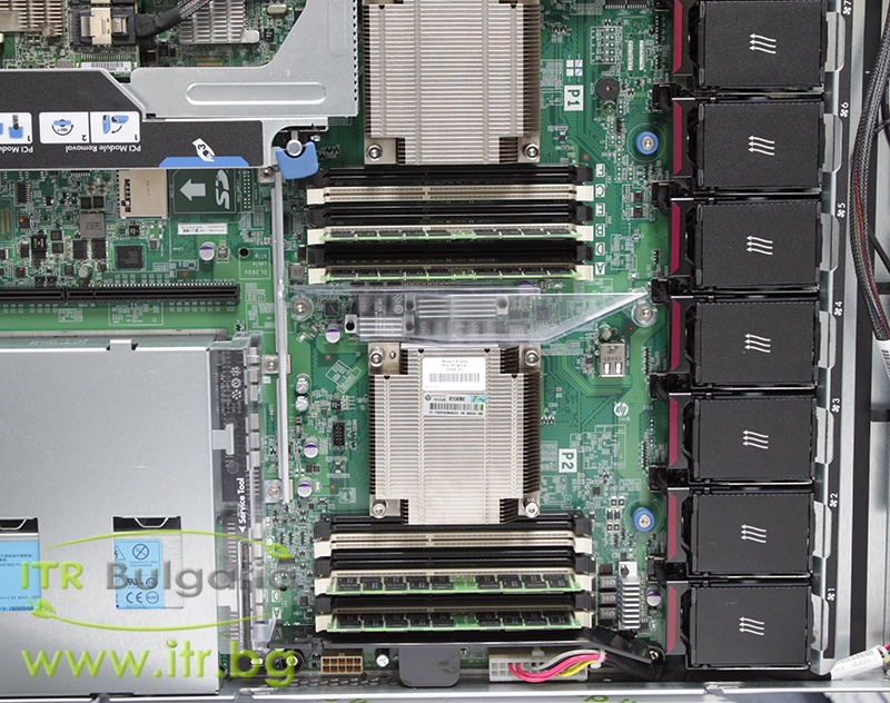 "HP ProLiant DL360p Gen8 Rack Mount 1U А клас 2x Intel Xeon 8-Core E5 2650 2000MHz 20MB  64GB DDR3 Registered NO HDD   SAS 2.5""  NO OD   LAN 4x 10/100/1000 PSU 2x 460W Smart Array P420i/2GB Controller with FBWC"