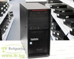Lenovo ThinkStation P310 А клас Intel Xeon Quad Core E3 1245 v5 3500MHz 8MB 16GB DDR4 Registered 1 бр. 256 GB 2.5 Inch SSD SATA DVD RW Tower  nVidia Quadro K2000 2048MB PCI E DVI 2xDisplayPort Card Reader