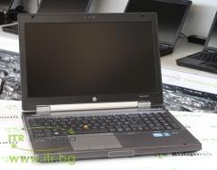 HP EliteBook 8560w А клас Intel Core i7 2620M 2700Mhz 4MB 8192MB So Dimm DDR3 500 GB SATA Slim DVD RW 15.6 1600x900 WSXGA 16:9  Finger Print Camera eSATA DisplayPort