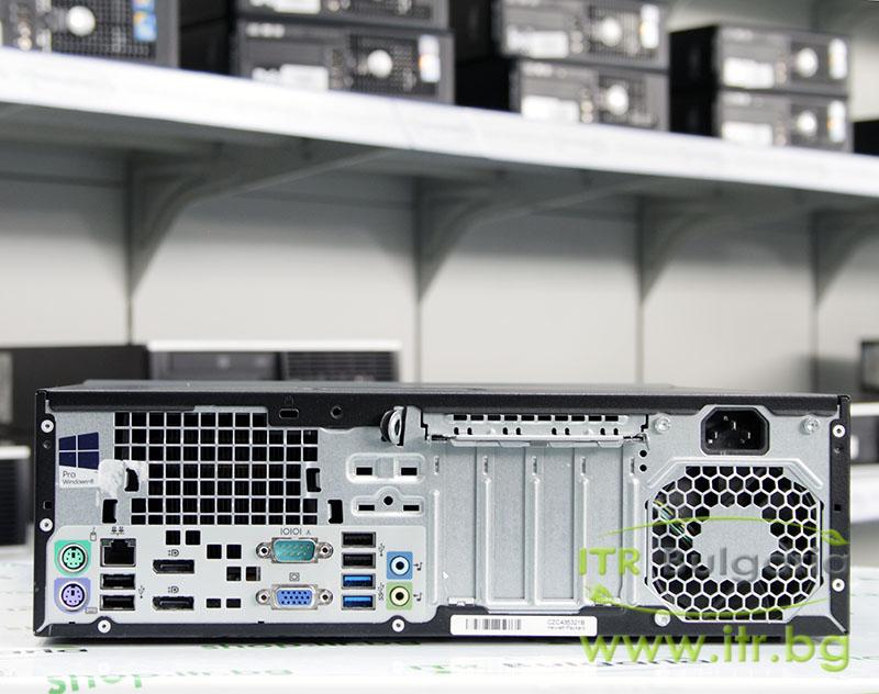 HP EliteDesk 800 G1 SFF А клас Intel Core i7 4770 3400MHz 8MB 8192MB DDR3 128 GB 2.5 Inch SSD Slim DVD-RW Slim Desktop