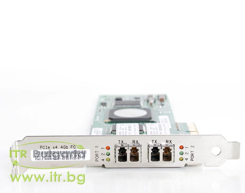 HP QLE2462 Dual Port А клас 4Gbit Fiber Optic PCIe Standard Profile 407621-001 for Server