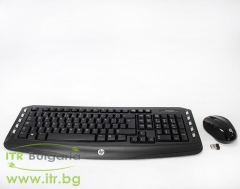 HP Wireless Classic Desktop Keyboard and Mouse Нов LV290AA ABB Black USB US INT