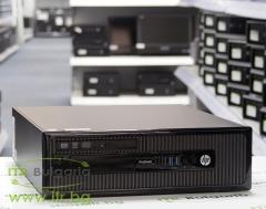 HP ProDesk 400 G1 SFF А клас Intel Core i3 4160 3600MHz 3MB 4096MB DDR3 500 GB SATA Slim DVD RW Slim Desktop