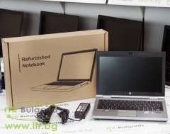 HP EliteBook 2570p А клас Intel Core i7 3520M 2900MHz 4MB 4096MB So Dimm DDR3 320 GB SATA NO OD 12.5 1366x768 WXGA LED 16:9  Finger Print Extended battery Camera 3G eSATA DisplayPort