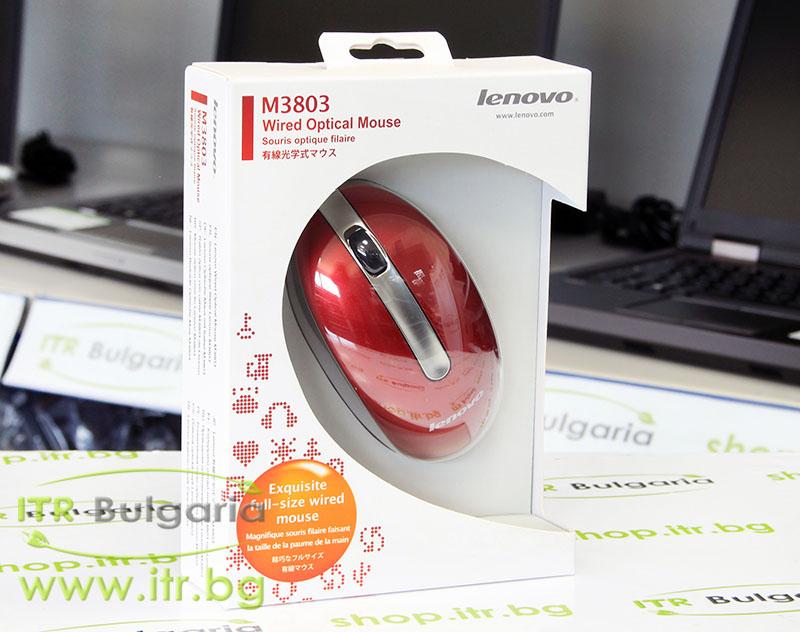 Lenovo M3803 Нов USB 888013577 Red Mouse