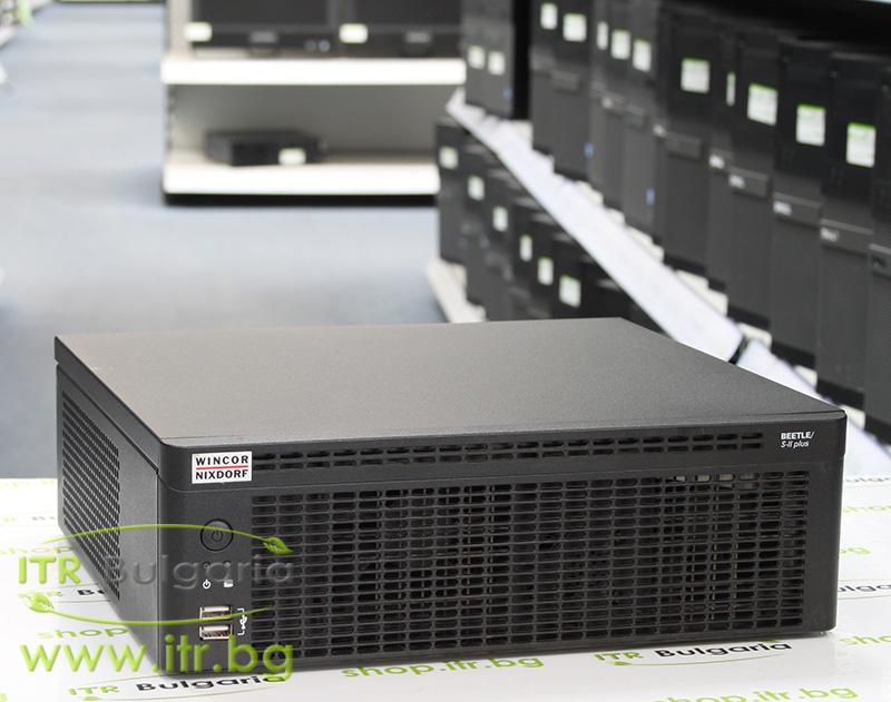 "Wincor Nixdorf Beetle SII Plus А клас Intel Dual-Core E2140 1600Mhz 1MB 2048MB DDR2 250 GB SATA 2.5"" NO OD 1xRS-232 DB9 3xRS-232 DB9 4xUSB 3xUSB 1xUSB LAN 1x 10/100/1000  с инсталиран Windows 7 Professional SP1 for POS"