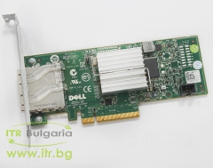 DELL H200E А клас SAS Controller PCIe Standard Profile 012DNW 6Gbps HBA Dual Port External Controller Adapter