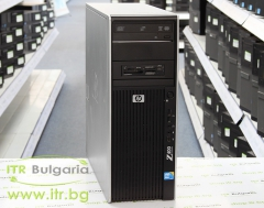 HP Workstation Z400 А клас Intel Xeon Dual Core W3503 2400Mhz 4MB 8192MB DDR3 ECC 1 бр. 500 GB 3.5 SATA DVD RW Tower  nVidia Quadro NVS 315 1024MB PCI E DMS 59 Card Reader