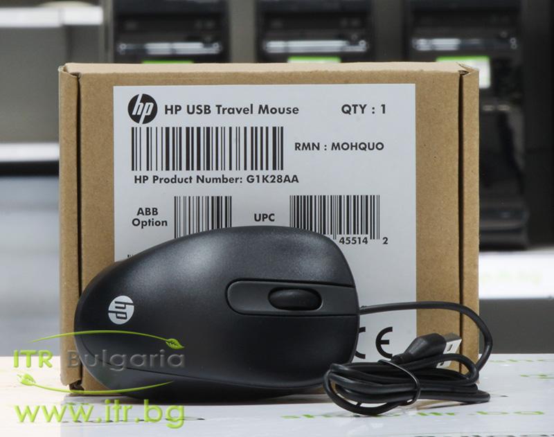 HP Travel Mouse Black Нов USB G1K28AA Optical Mouse