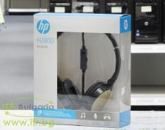 Слушалки-HP-H2800-Stereo-Headset-(Black-w.-Silk-Gold)-Нов