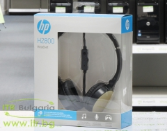 HP H2800 Stereo Headset (Black w. Silk Gold) Нов P N 2AP94AA