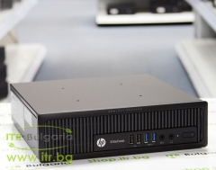 HP EliteDesk 800 G1 USDT А клас Intel Core i5 4570S 2900Mhz 6MB 4096MB So Dimm DDR3L 128 GB 2.5 Inch SSD Slim DVD RW Ultra Slim Desktop  Wi Fi